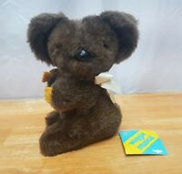 Eden Waggie Musical Koala Bear Plush 1977 Vintage Wind Up Musical Toy 8 Inches