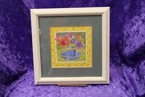 Timeless Impulse Designs Floral In Cup and Bowl Framed 9X9 Wall Picture