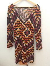 PALME Multi Print Crossover Dress.  M-L.  <N1650