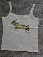 XL Baumwolle Spagetti Top Shirt mit Stickerei für 44 46 neu
