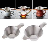neue blatt. teaware küche tee sieb edelstahl trichter filter gut.