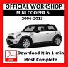 >> OFFICIAL WORKSHOP Manual Service Repair Mini Cooper S 2006 - 2013