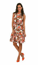 Crew Neck 50's, Rockabilly Party Floral Dresses for Women
