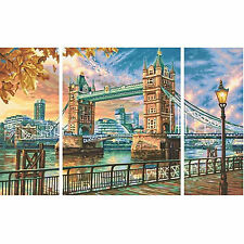 The Tower Bridge in London Schipper 609260752 Malen nach Zahlen Triptychon Bau