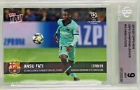 Ansu Fati 2019-20 Topps Now UEFA Champions League /335 Youngest BGS 9 Mint