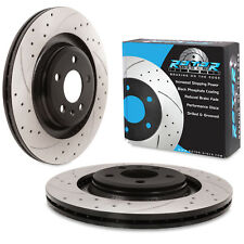 REAR DRILLED GROOVED 330mm BRAKE DISCS FOR AUDI A4 B8 A5 Q5 2.0 2.7 3.0 TDI FSI