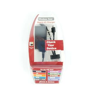 Wireless Gear Rapid AC Charger Model 3TV3006 android I phone ipod