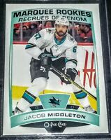 2019-20 Jacob Middleton UD OPC O-Pee-Chee Marquee Rookie #534 San Jose Sharks