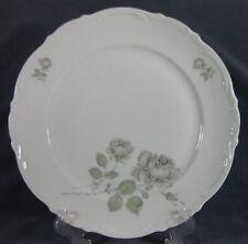 Mitterteich Mystic Rose Dinner Plate Bavaria Germany Gray Roses Platinum Trim