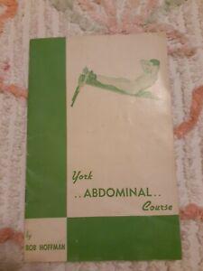 York Abdominal Course Bob Hoffman Workout Vintage Booklet & Paper Adverting