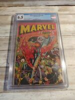 Marvel Mystery Comics #60 CGC 6.5 graded Timely 1944 War WWII cover Human Torch