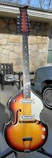 New ListingBlack Jack Teisco Electric 12 String Guitar Very Good Condition 1970ish Viola