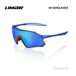 Limar S9 Polycarbonate Cycling Sunglasses : BLUE/RED