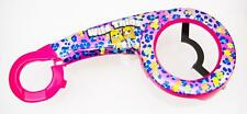 """WILD THINGS SHINY FLOWERS Kids Bike/Bicycle CHAIN GUARD for 12"""" WHEELS in Purple"""