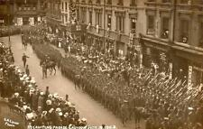 Recruiting Parade Military WW1 Croydon 1915 unused RP old pc G A Laver