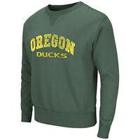 Oregon Ducks Green Fleetwood Crew Neck Sweatshirt by Colosseum