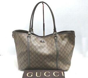 Gucci Joy 197954 Large Shoulder Bag Handbag GG Monogram Dark Beige Dust Bag