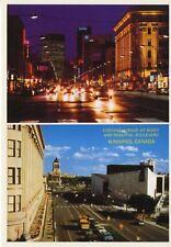 Winnipeg Manitoba MB Portave Ave & Memorial Boulevard Vintage Postcard D17