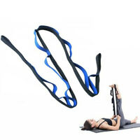 Stretching exercise straps durable cotton multi loop leg fitness recov Dz
