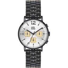 Orla Kiely Ladies Frankie Chronograph Black IP Watch RRP £165