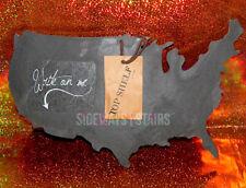 UNITED STATES SLATE MEMO BOARD usa rustic wall decor chalkboard cheeseboard rare