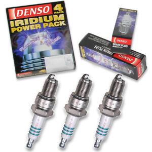3 pc Denso Iridium Power Spark Plugs for 1989-1997 Geo Metro 1.0L L3 ku