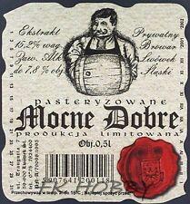 Poland Brewery Lwówek Śląski Mocne Dobre Beer Label Limited Edition ls134.3