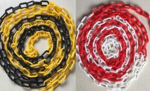 Kette Absperrkette Kunststoffkette Warnkette Sicherheitsabsperrung Rot Gelb