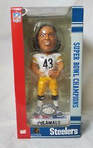Pittsburgh Steelers Troy Polamalu #43 Super Bowl 40 Bobblehead w/ring New SBXL