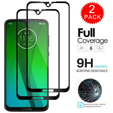 For Moto G7 Plus G6 Play G7 Power Full Coverage Tempered Glass Screen Protector