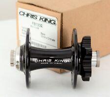 Chris King R45D Front Hub, 28H, 12 x 100mm T/A, 6-Bolt Disc, Black 28 Hole
