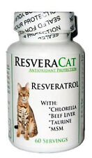CAT PET 99% RESVERATROL POWDER, Beef Liver, MSM, Chlorella, Taurine, 60 Servings