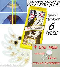 6 Camiseta/botón de cuello de corbata unstrangler Extensores + Gratis Dobladillo Expansor
