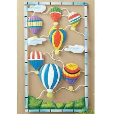 "HOT AIR BALLOON  WALL HANGING PLAQUE 19""  NEW IN BOX"