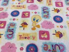 BABY LOONEY TUNES-FLANNEL-TWEETY CUITIE-BY DAVID TEXTILES-BY THE YARD