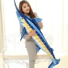 big creative tuna plush toy blue fish doll simulation tuna gift doll 150cm