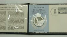 United Nations Official Sterling Silver 25th Anniversary Medal - Franklin Mint