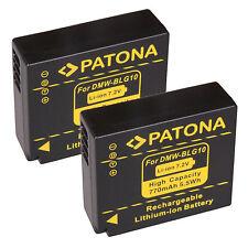 2 x Patona Akku für Panasonic Lumix DMC-LX100 - DMW-BLG10, -BLG10E