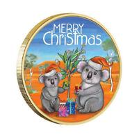 Australia 2018 Merry Christmas Koala $1 Coloured UNC Coin Carded