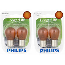 Two Philips Long Life Mini Amber Light Bulb 1156NALLB2 for 1156 1156NALL S-8 bi