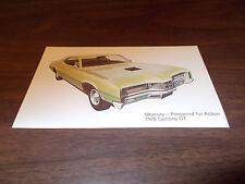 1970 Mercury Cyclone GT Advertising Postcard