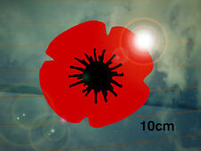 Remembrance Poppy Car Decal/Sticker Large *WW2*WW1*Lest We Forget*Memorial*