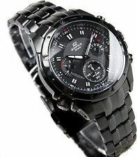 Imported Luxury Edifice EF 535BK 1A, Full Black Chronograph mens watch Gift
