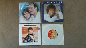 """Cliff Richard - 4 x 7"""" Singles - All I Ask Of You, This New Year + 2 others"""