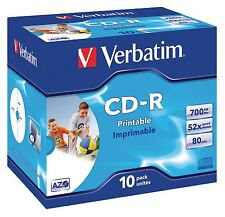VERBATIM CD-R Stampabile A Getto D'inchiostro AZO Wide