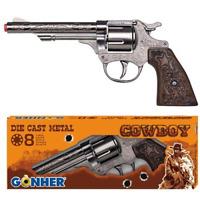 Gonher Diecast Metal 8 Ring Shot Cowboy Gun