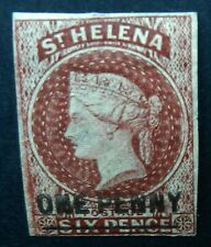 St Helena 1863 1d Type A SG 3 Unused no gum Cat £150