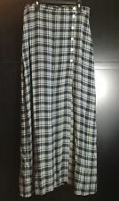 Vtg Breeches Long Blue Plaid Lined Skirt Wrap Style Ladies Size 10 USA Made NOS