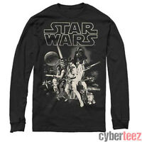 STAR WARS T-Shirt Movie Poster Longsleeve Authentic Episode IV A New Hope S- 5116ded5a