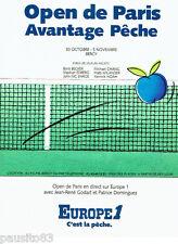 PUBLICITE ADVERTISING 036  1989  Europe 1 radio Open  tennis de Paris Bercy